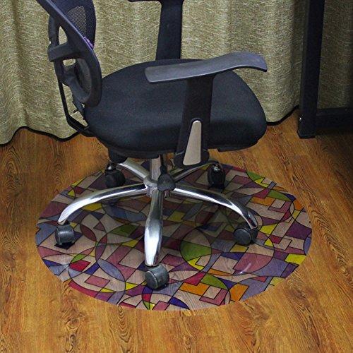 lililili Pvc-matte für teppiche,Büro-stuhl-matte für teppichböden,Stuhl schreibunterlage für teppich -D Durchmesser80cm(31inch)