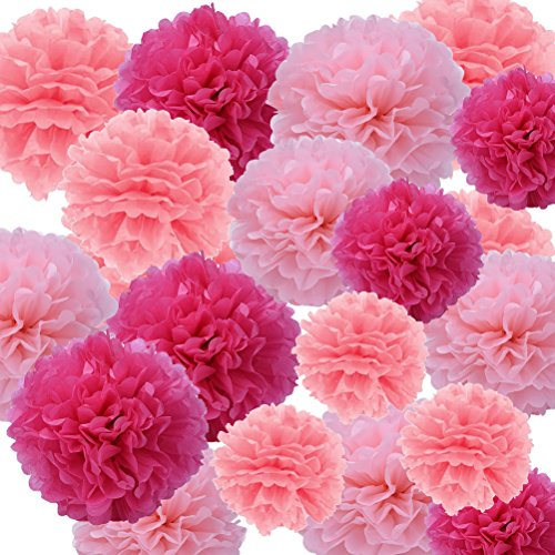 en Pompoms,Seidenpapier Blumen Ball Dekorpapier Kit ()