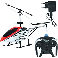 HELIUM Remote Control RC Flying HELICOPTER With Metal Steel Chassis And Unbreakable Fiber Body & Blades With…