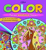Crea Color Mandala Chevaux : Avec des dessins détachables, Edition bilingue français-hollandais