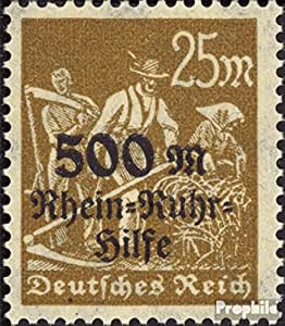 Allemand Empire 259 1923 rhin- u.ruhr aide (Timbres pour les collectionneurs)