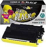 Yellow Yeti TN2000 (2.500 Seiten) 2 Premium Toner kompatibel für Brother HL-2030 HL-2032 HL-2040 HL-2050 HL-2070 HL-2070N DCP-7010 DCP-7020 DCP-7025 FAX-2820 FAX-2920 MFC-7420 [3 Jahre Garantie]