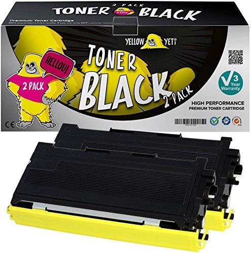 Yellow Yeti TN2000 (2500 pagine) 2 Toner compatibili per Brother HL-2030 HL-2032 HL-2040 HL-2050 HL-2070 HL-2070N DCP-7010 DCP-7020 DCP-7025 FAX-2820 FAX-2920 MFC-7420 MFC-7820 [3 Anni di Garanzia]