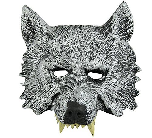 uesae Halloween Masken Erwachsene Wolf Maske schwarz Halloween Dekorationen Kostüm Party Cosplay Karneval Zubehör Make Up Thema Party (Halloween-make-up Für Erwachsene)