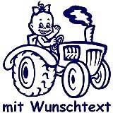 Babyaufkleber mit Name/Wunschtext - Motiv 793 (16 cm) - 20 Farben und 11 Schriftarten wählbar