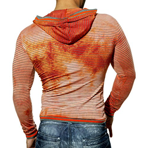 TAZZIO VIP PARTY KAPUZEN PULLOVER SWEATSHIRT LANGARM LONGSLEEVE T200 Orange