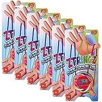 TE-Trend Ztringz Fingerspielzeug Schnurspiel Thread Game Seilpuzzle Knot Handcrafts Hands Dexterity Girl Multicoloured - 6er Set Ztringz