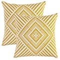 TreeWool, (Pack of 2) Cotton Canvas Kaleidoscope Accent Decorative Cushion Covers - cheap UK light store.