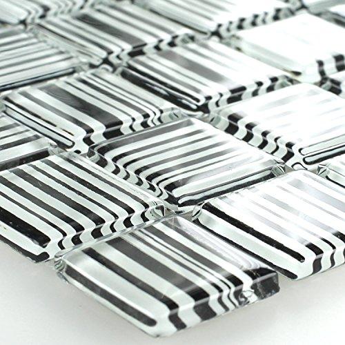 Mosaikfliesen aus Glas Gestreifte Zebra