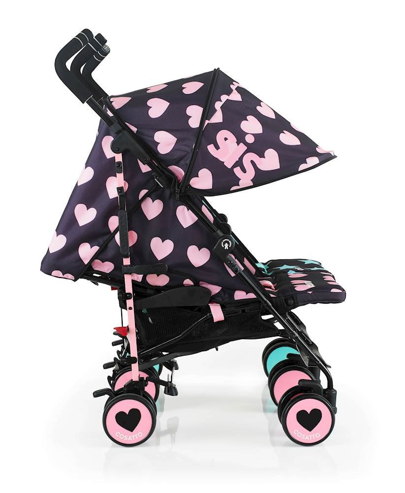 Cosatto Supa Dupa Double/Twin Stroller, Suitable from Birth, Sis and Bro 5 Cosatto Supa dupa is a compact from-birth double stroller. it's lightweight but sturdy. the stowaway auto stand makes it great for home or car storage. With upf50+ extendable hoods, rain cover and fleece-lined foot muffs, supa dupa in charge, rain or shine.  the handy compact fold means you can hop on and off transport. Each seat has its own recline - so whatever their age, whatever their stage, whatever their mood that day, they're happy. 3