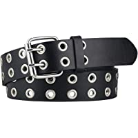 Belt for Women The Hole Double Prong Wide Goth Womens Belts for Jeans