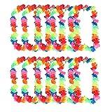 10x Milopon Hawaiiketten Hawaiianische Blumenketten Lei-Blumen-Girlande Multifarben Hula Ketten Hawaii Party Deko Girlanden 100cm