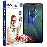 #5: CELLBELL® Tempered Glass Screen Protector For Motorola Moto G5S Plus With FREE Installation Kit