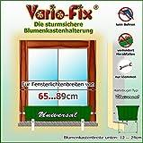 Vario-Fix Universal Haltebügel für 12cm Blumenkasten mit 65cm Spannstange