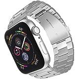 ARTCHE Sportband för Apple Watch rostfritt stål ersättningsrem armband justerbart armband bälte, kompatibelt med iwatch Serie