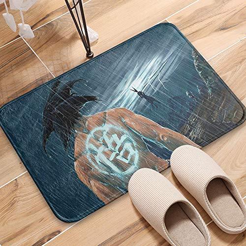 """OZOVP""""XI Tapetes, impresión de la Creatividad Espesar Franela No Deslizante Felpudo Dormitorio Sala de Estar Cocina Baño Suave Antideslizante Desgaste Inferior Succión (Tamaño: 40X60 CM)"""