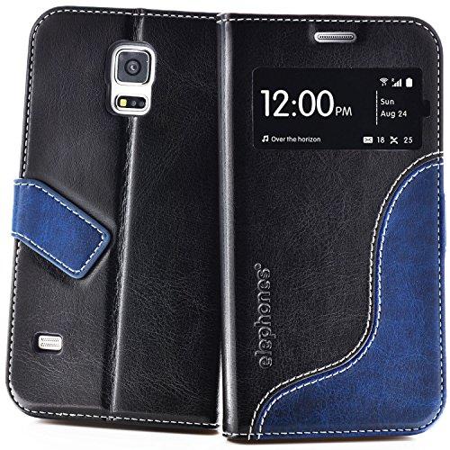 elephones Schutzhülle geeignet für Samsung Galaxy S5 / S5 NEO Hülle Handyhülle Handy-Tasche Wallet Case Cover (Maßgeschneiderte Hülle Für Galaxy S5)