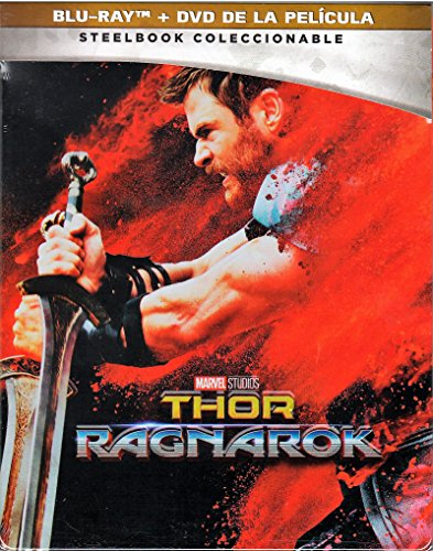 THOR RAGNAROK Special Edition STEELBOOK - (Blu-ray + DVD) - English and Spanish Audio & Subtitles - IMPORT