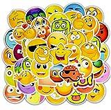 Sonrisa Cara Emoji Expresión Pegatinas Diario Álbum de fotos Recompensa Profesor de la escuela Cuaderno Merece Elogio Decoración 50 Piezas