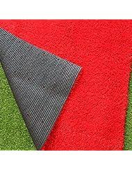 WENZHE Alfombra De Práctica Para Golf Estera Putting Césped Verde Alta Simulación Verde/Rojo, 1 Metro De Ancho, Grass Longitud De Seda 12mm ( Color : Rojo , Tamaño : 1*3m )
