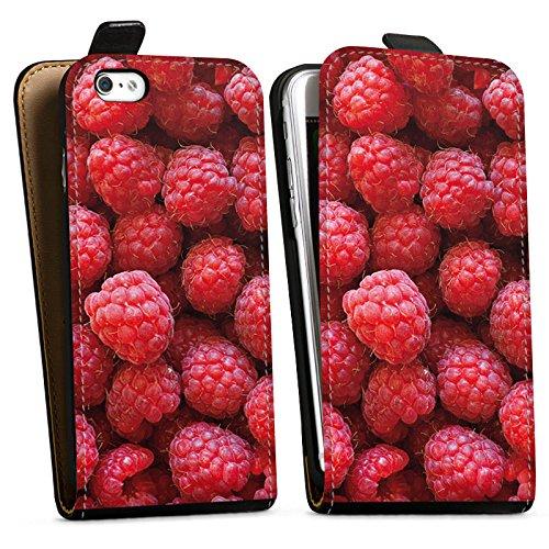 Apple iPhone 5c Silikon Hülle Case Schutzhülle Himbeere Raspberry Sommer Downflip Tasche schwarz