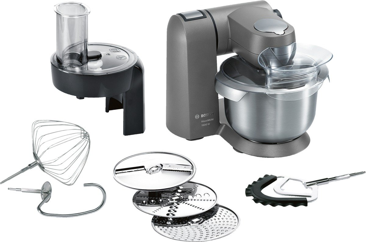Bosch-MUMX15TLDE-Kchenmaschine-MaxxiMUM-1600-W-54-L-Edelstahl-Rhrschssel-3D-PlanetaryMixing-Smart-dough-sensor