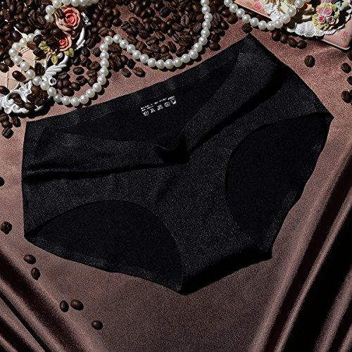 FZmix New Arrival Women'S Sexy Ice Silk Panties Seamless Panty Briefs Underwear Intimates Panties Black
