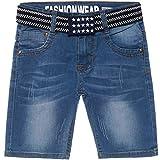 Fashion Boy Jungen Destroyed Capri Jeans Shorts inkl Gürtel Kurze Hose Bermuda 22520, Größe:104