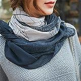 Muster drucken Leinen Lange Schal/Schal/Paket/Kopftuch, grau