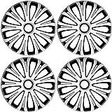 Original 4er Set AVEA Satz 4x 14 Zoll (35,56cm) silber schwarz mix bicolor Radzierblenden Radblenden Radkappen Radabdeckungen Raddeckel Radhauben Felgenblenden Felgenkappen Felgenabdeckungen Felgendeckel