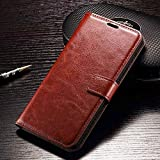 Samsung Galaxy S8 Flip Cover Leather Case Premium Luxury Revel Touch Cover for Samsung Galaxy S8 samsung galaxy s8 Brown Color