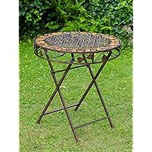 Hierro mesa de hierro forjado de estilo antiguo mobiliario de jardín de piedra