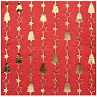 Neviti Dazzling Christmas Party Napkins - Red & Gold - 3 Ply - 16 Pack