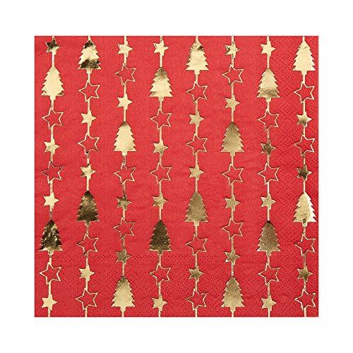 Neviti 772225éblouissant de Noël–Serviettes de Table