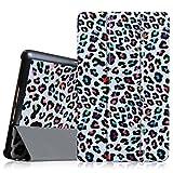 Fintie Samsung Galaxy Tab S 8.4 Hülle Case - Ultra Schlank superleicht Ständer SlimShell Cover Schutzhülle Etui Tasche mit Auto Schlaf/Wach Funktion, Leopard Regenbogen
