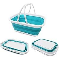 SAMMART 15.5L (4.1Gallon) Faltbare Wanne mit Griff - Tragbarer Picknickkorb/Krater - Faltbare Einkaufstasche…