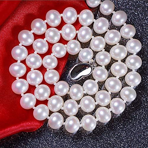 Lnyy Perle Halskette White Strong hell in der Nähe der Runde Perlenkette Freundin Mama senden