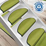 Stufenmatte Dynasty Velours | Halbrund oder eckig | In 7 Farben (Stufenmatte halbrund 15 Stück, Grün)
