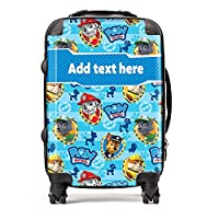 "Exclusive""Wallpaper"" Paw Patrol Personalised Suitcase with custom design and add your name option"