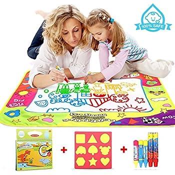 Tomy aquadoodle t72372 tapis aquadoodle classique 4 couleurs tapis de dessin loisir - Tapis aquadoodle classique ...