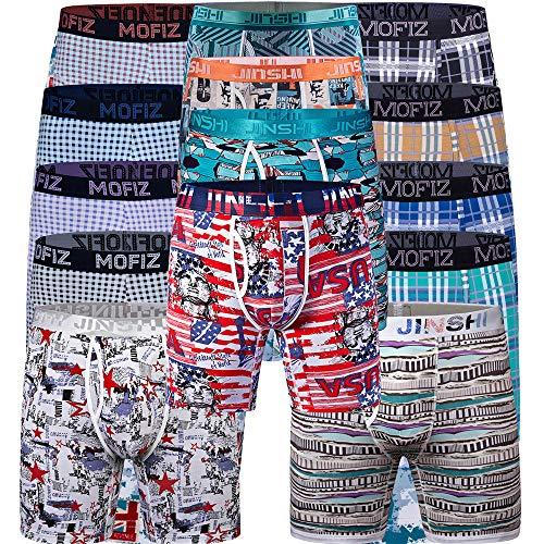 (JINSHI Herren 6er Pack Boxershorts Unterhose Räumungsverkauf Ausverkauf Zufällige Farbe Größe 3XL)