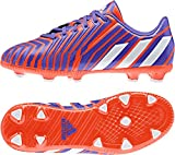 Adidas Predator Absolado Instinct FG niños–Botas de fútbol Blanco/Negro/Rojo Solar, BLACK1/CHALK2/LGTSCA