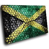 AB378C gerahmte Leinwanddruck Bunter Wand-Kunst - Retro Jamaika-Flagge - modernes abstraktes Wohnzimmer Schlafzimmer Bild Stück Wohnkultur Interior Design Einfach Hang Guide (60x40cm)