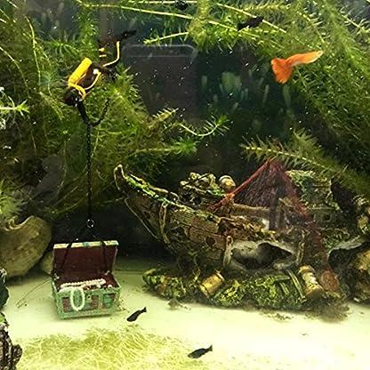 Broadroot Fish Tank Landscape Sailing Boat Shipwreck Shaped Ornament Aquarium Fish Tank Pirate Decor 6