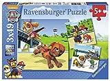 Ravensburger 09239 - Paw Patrol Team auf 4 Pfoten, 3 x 49 Teile Puzzle -