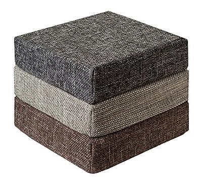 Kissen Sitzblock Bodenkissen Stuhlkissen Sitzkissen 40x40x10 cm TREND Anthrazit von Schwar Textilien bei Gartenmöbel von Du und Dein Garten
