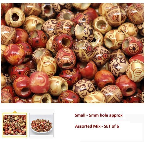dreadz-small-wooden-barrel-beads-ethnic-multi-mix-5mm-hole-x-6-bead-pack