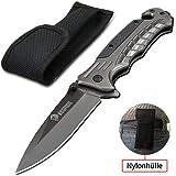 NedFoss Outdoor Survival Klappmesser, Scharfes Rettungsmesser mit Gurtschneider und Glasbrecher, Gut Einhandmesser (FA46)