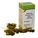 Hemp Seed Oil Softgels 1000mg | Omega 3 & Omega 6 Cold Pressed Hemp Oil | Lactose Free | High Strength Cannabis Sativa Pure O