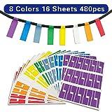 Kabel Ettiketten Selbstklebend Kabelettikett 8 Farben 16 Blatt 480 Labels Wasserdicht Reißfest Haltbar Kabel Aufkleber